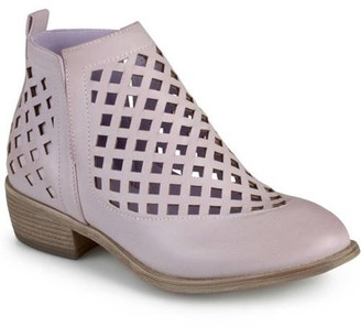 Brinley Co. Womens Chunky Heel Caged Cut-out Ankle Booties