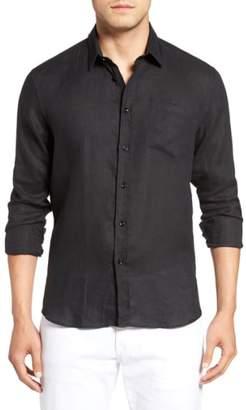Vilebrequin Caroubie Regular Fit Linen Sport Shirt