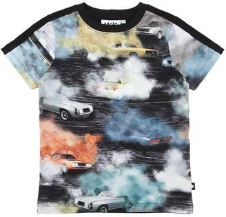 Molo Cars Print Cotton Jersey T-Shirt