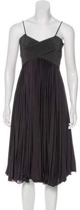 Giorgio Armani Sleeveless Pleated Dress