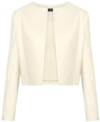 Theory Luxe Linen Cropped Jacket