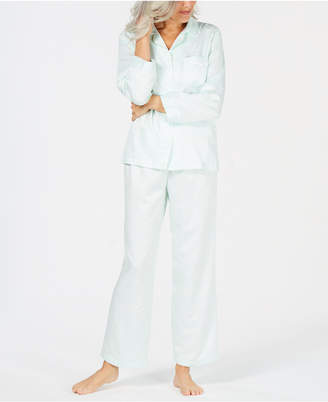 Miss Elaine Petite Brushed-Back Satin Pajama Set