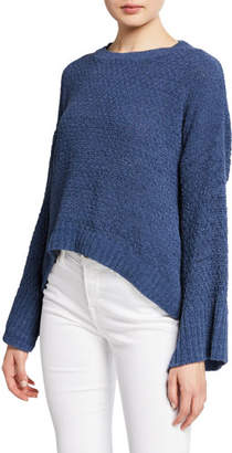 Splendid Bowie Bell-Sleeve Chenille Pullover Sweater