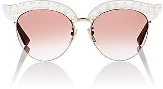Gucci Women's GG0212S Sunglasses - White W, pearls