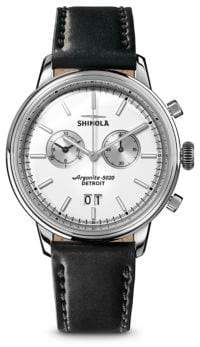 Shinola Stainless Steel Bedrock Strap Chronograph Watch