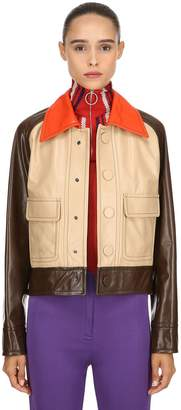 Marni Color Block Leather Jacket