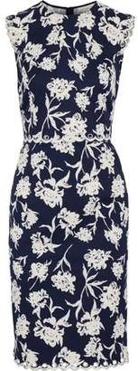 Sachin + Babi Lillie Embellished Floral-Print Faille Dress