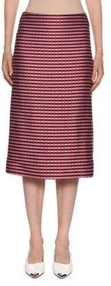 Marni Checked-Knit Midi Pencil Skirt