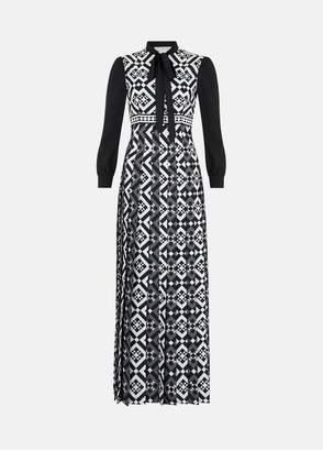 Mary Katrantzou Duritz Dress Black/White Tiles