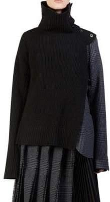 Sacai Turtleneck Sweater Blazer