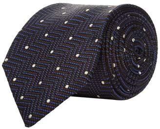 Corneliani Dotted Zig Zag Tie