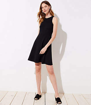 LOFT Ponte Pocket Flare Dress