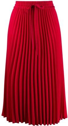 RED Valentino RED(V) pleated midi skirt