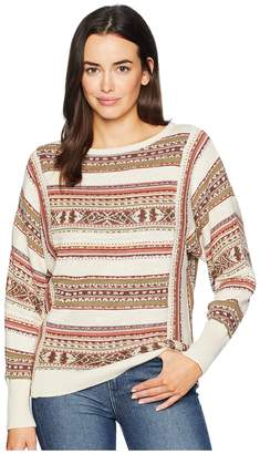 Chaps Linen Cotton Long Sleeve Sweater Women's Sweater