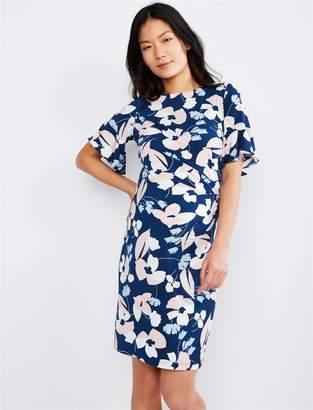 42dcf96139914 Taylor Flutter Sleeve Floral Maternity Dress