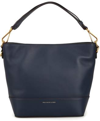 Polo Ralph Lauren Hobo S Dark Blue Leather Tote Bag