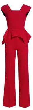 Roland Mouret Wiseman Double Wool Crepe Jumpsuit