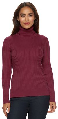 Women's Croft & Barrow® Essential Ribbed Turtleneck Sweater $36 thestylecure.com