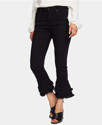 1 STATE 1.state Ruffle-Hem Cropped Skinny Jeans