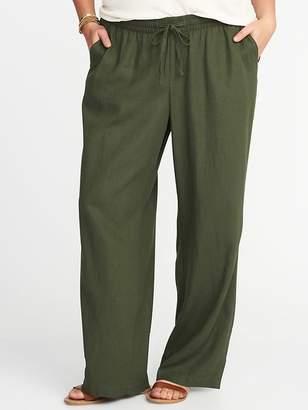 Old Navy Plus-Size Linen-Blend Wide-Leg Soft Pants
