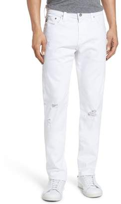 AG Jeans Tellis Slim Fit Jeans (Ragged White)