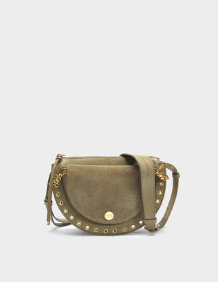 See by Chloe Kriss Small Crossbody Bag in Safari Khaki Leather and Suede