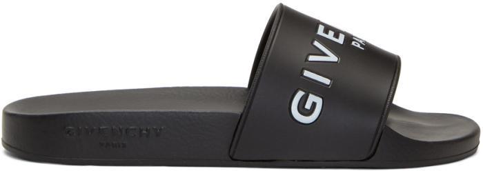 Givenchy Black Logo Slides
