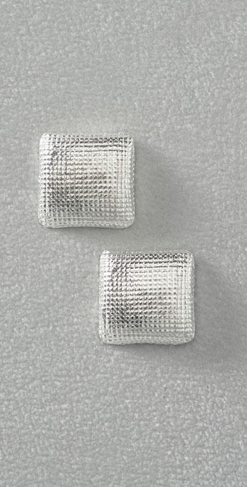 Rachel Leigh Mesh Square Silver Earrings