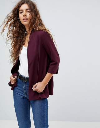 Asos Design Soft Chuck On Blazer