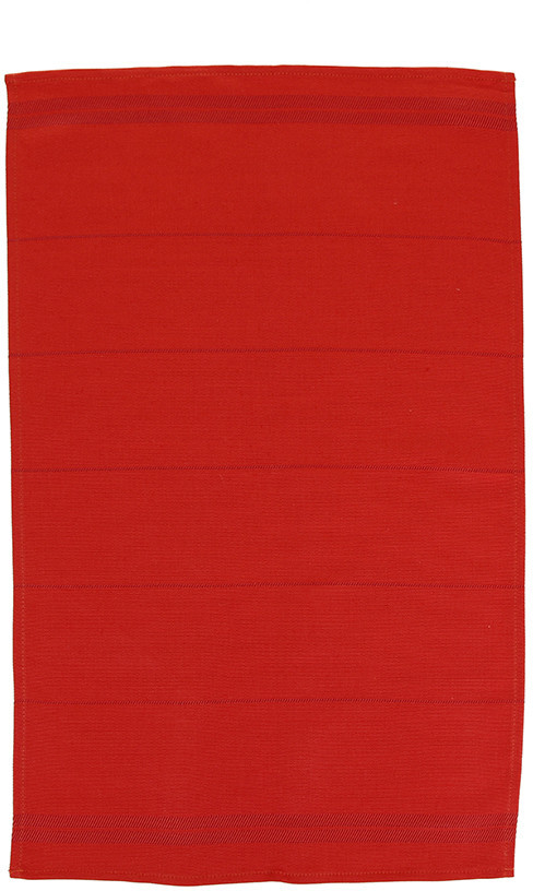 Falcon Tea Towel - Pillarbox Red with Red stripe