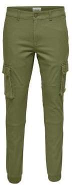 ONLY & SONS Skinny-Fit Cuffed Cargo Pants