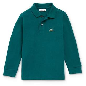 Lacoste Boys' Classic Piqué Long-Sleeve Polo - Little Kid, Big Kid