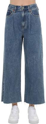 Levi's Cropped Highrise Wide Leg Jeans W/Pleats