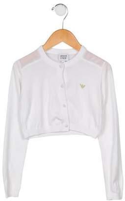 Armani Junior Girls' Cropped Knit Cardigan