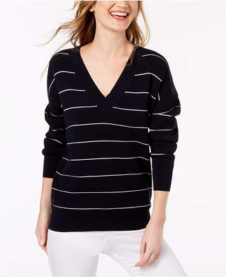 Lacoste Striped Mini Waffle-Knit Sweater