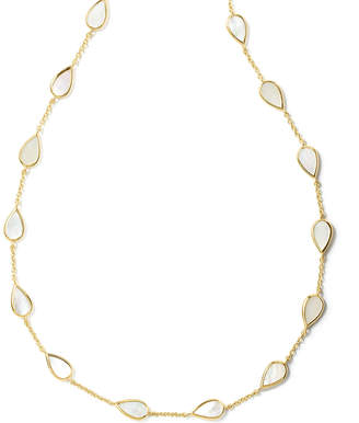 Ippolita 18K Rock Candy Small Mother-of-Pearl Pear-Station Necklace