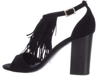 M.Gemi M. Gemi Fringe T-strap Sandals