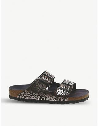 Birkenstock Arizona metallic leather sandals