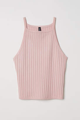 H&M Ribbed Tank Top - Pink