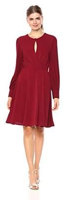 Wild Meadow Women's Short Sleeve Wrap Top Dress L Black
