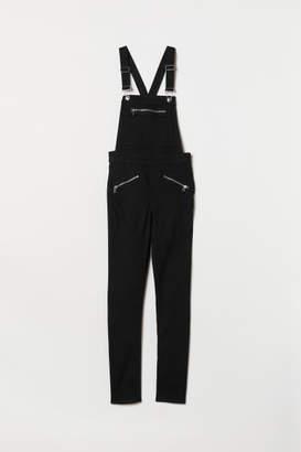 H&M Twill Bib Overalls - Black