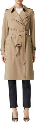 Burberry Kensington Long Canvas Trench Coat