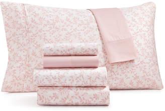 Sunham Norvara 500 Thread Count 6-Pc. Printed Queen Sheet Set Bedding
