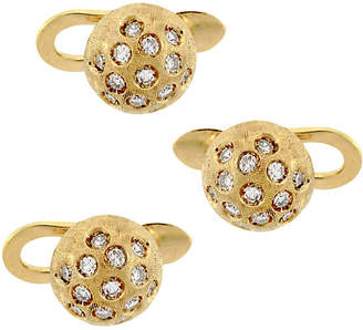 One Kings Lane Vintage 5-Pc 18K Gold & Diamond Cuff Link Set - Raymond Lee Jewelers