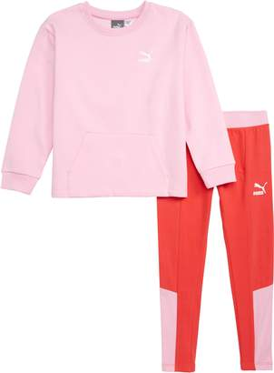 Puma Graphic Sweatshirt & Leggings Set