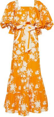 Johanna Ortiz Listen To Your Heart Floral Cotton Dress