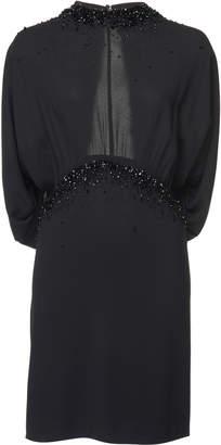 Prada Open-Back Embellished Georgette Mini Dress