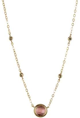 Judith Jack 10K Gold Plated Sterling Silver Purple Crystal & Swarovski Marcasite Necklace $98 thestylecure.com