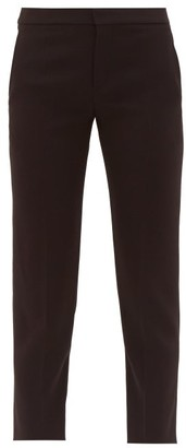 Chloé Cropped Tailored Crepe Trousers - Womens - Black