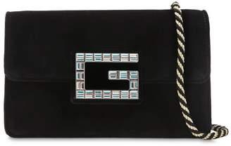 Gucci Broadway Crystal G Velvet Shoulder Bag